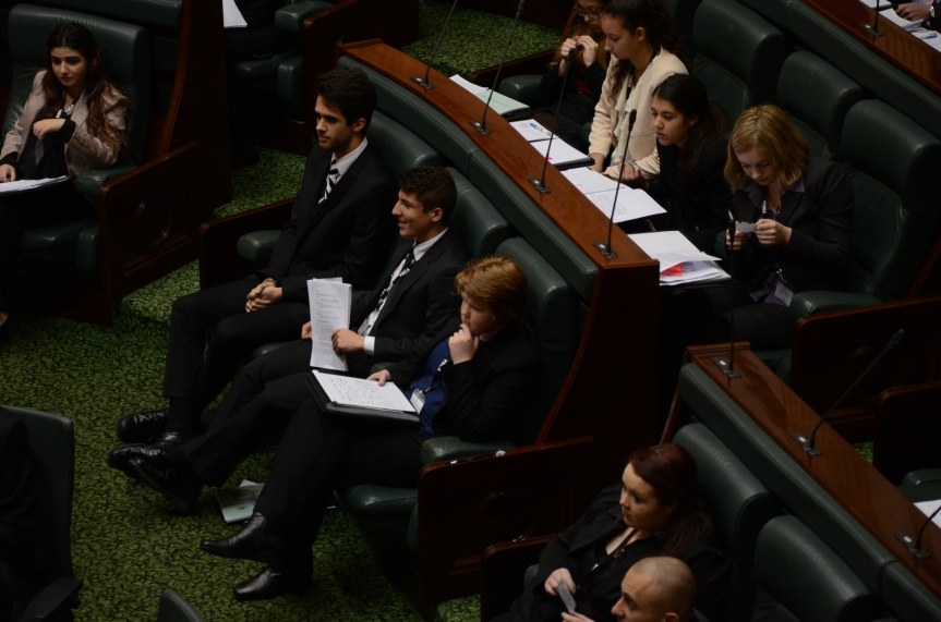 The Hon. Laurel Fry McBean sits back down after her heated comment. Photo - Finbar O'Mallon