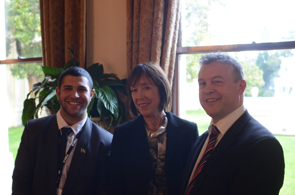 From L - R: Youth Premier, Oussama Abou-Zeid; Hon. Lieutenant-Governor, Marilyn Warren AC, QC; Minister for Youth Affairs, Ryan Smith. Photo - Finbar O'Mallon