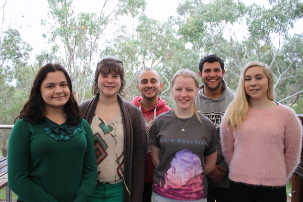 Team members of the 2014 Hobsons Bay Youth Parliament team.